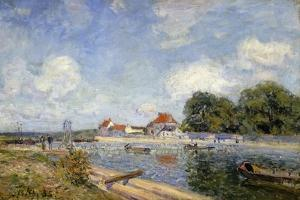 The Weir on the Loing at Saint-Mammes; Le Barrage Du Loing a Saint-Mammes, 1885 by Alfred Sisley