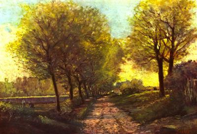 Alfred Sisley Tree Avenue in a Small Town Art Print Poster
