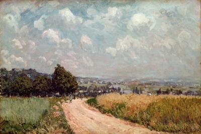 Turning Road Or, View of the Seine, 1875 by Alfred Sisley