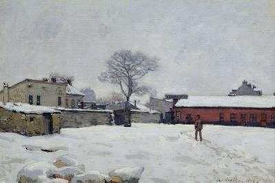 Under Snow: the Farmyard at Marly-Le-Roi, 1876 by Alfred Sisley
