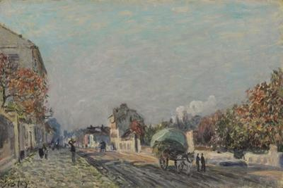 Une Rue À Marly, 1876 by Alfred Sisley