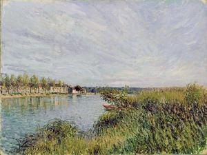 View of Saint-Mammes, C.1880 by Alfred Sisley