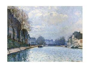 View of the Canal Saint-Martin, Paris, 1870 by Alfred Sisley