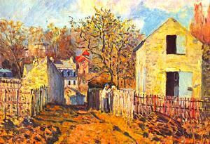 Alfred Sisley Village of Voisins Art Print Poster