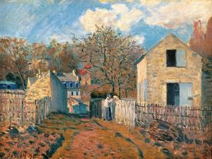 Village of Voisins (Yvelines) by Alfred Sisley