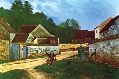Village Street in Marlotte by Alfred Sisley