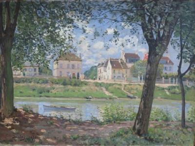 Villeneuve-La-Garenne, 1872 by Alfred Sisley