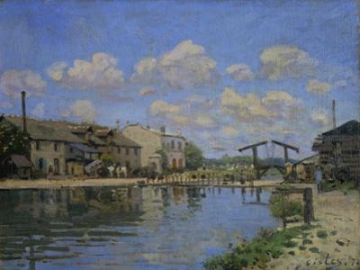 Vue du Canal St. Martin, Paris. (1872) REF 1701 MS 3000.2. by Alfred Sisley