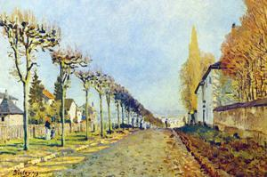 Way of the Machine, at Louveciennes by Alfred Sisley