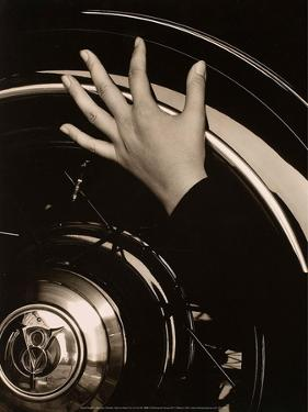 Georgia O'Keeffe, Hand on Back Tire of Ford V8, 1933 by Alfred Stieglitz