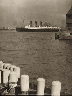 The Mauretania, 1910 by Alfred Stieglitz
