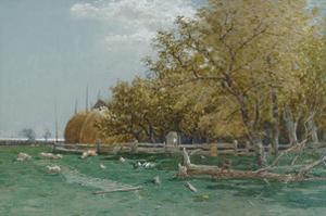 Farm in Southampton, Long Island by Alfred Thompson Bricher