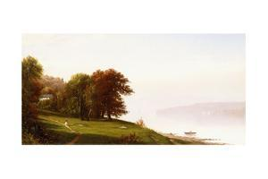 Landscape on the Hudson, C.1865 by Alfred Thompson Bricher