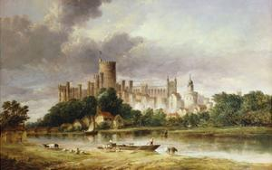 A View of Windsor Castle from the Brocas Meadows by Alfred Vickers