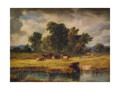 'Banks of the Envy, near Rhuddlan', 1852, (1938)