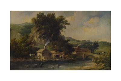 'Scene in Dovedale, Derbyshire', 1836, (1938)