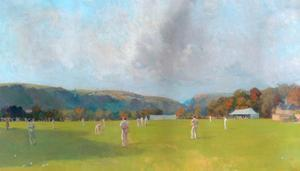 Cricket match, Centre Vale by Alfred Walter Bayes