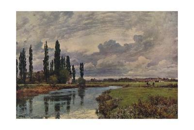 Poplars in the Thames Valley, c19th century, (1938)