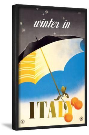 Winter in Italy - Italian Tarocco Blood Oranges under an Umbrella by Alfredo Lalia