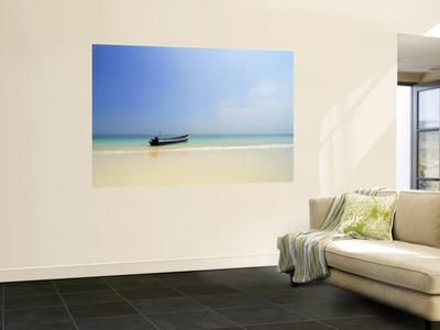 Boat on Tropical Beach by Alfredo Maiquez