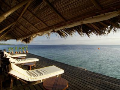 Looking Out to Sea from the Punta Caracol Hotel Verandah by Alfredo Maiquez