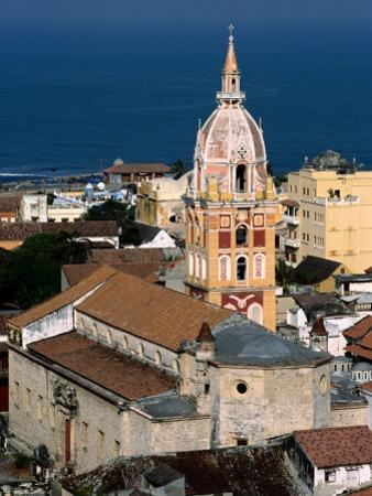 Overhead of Cartagena Cathedral Tower, Cartagena, Colombia
