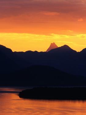 Sunset Over Mountains and Lake Nahuel Huapi in Patagonia, Nahuel Huapi National Park, Argentina by Alfredo Maiquez