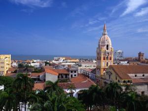 View Over Cartagena De Indias to Cathedral, Cartagena,Bolivar, Colombia by Alfredo Maiquez