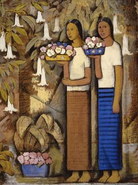 Flower Vendors by Alfredo Ramos Martinez