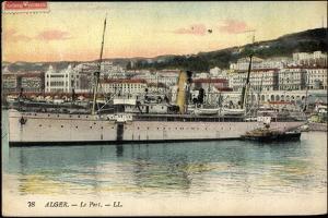 Alger Algerien, Le Port, Dampfschiff Rey Jaine II