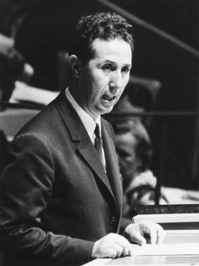 Algerian President Ahmed Ben Bella Addresses the United Nations General Assembly on Oct. 9, 1962