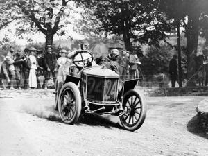 Algernon Guinness Driving a Minerva in the Circuit Des Ardennes, 1907
