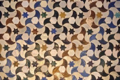 Alhambra, Comares Palace, Court of the Myrtles, Tiles, 9-14th Century, Granada, Spain