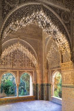 Alhambra, Nazari Palace, Palace of the Lions,Hall of Aljimences, 9-14th C, Granada, Spain