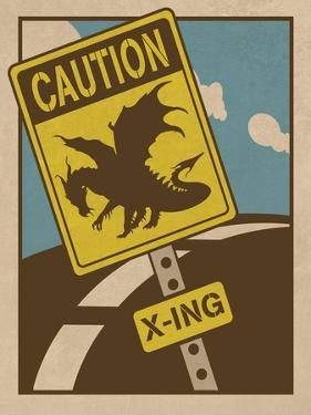 Caution Dragon Crossing by ALI Chris