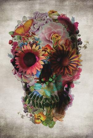 Flower Skull by Ali Gulec