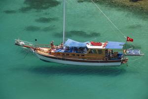 Gulet in Paradise Cove (Ilica Buku), Bodrum, Mugla, Turkey by Ali Kabas