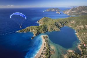 Paramotor Flying in Oludeniz, Aerial, Fethiye, Turkey by Ali Kabas