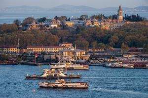 Topkapi Palace and Ferries, Istanbul, Turkey by Ali Kabas