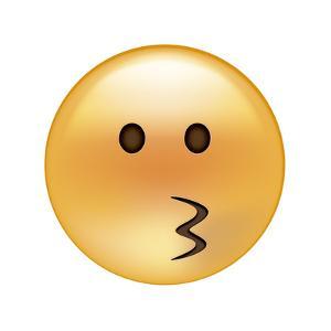 Emoji Circle Eye Kiss by Ali Lynne