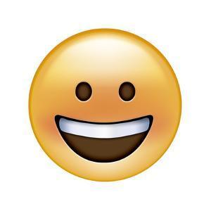 Emoji Circle Eye Smile by Ali Lynne