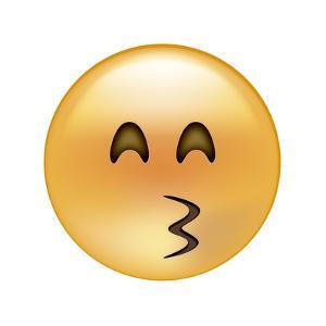 Emoji Crescent Eye Kiss by Ali Lynne