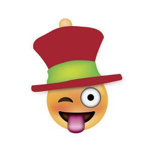 Emoji One Eye Xmas Hat by Ali Lynne