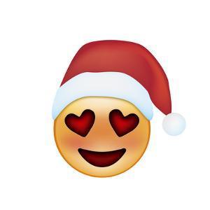 Emoji Smile Heart Xmas Hat by Ali Lynne