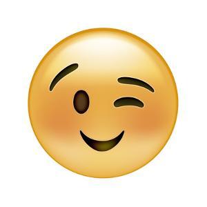 Emoji Wink Small Smile by Ali Lynne
