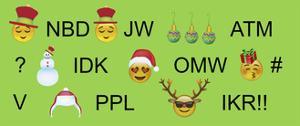 Xmas Emojis Text 3 by Ali Lynne