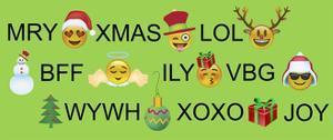 Xmas Emojis Text by Ali Lynne