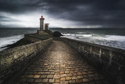 Europe, France, Plouzané - Stormy Day At The Lighthouse Of The Petit Minou