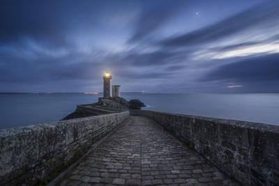 Europe, France, Plouzané - Venus Rising At The Lighthouse Of The Petit Minou