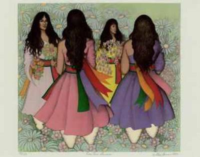 Taos Corn Dancers by Alice Asmar